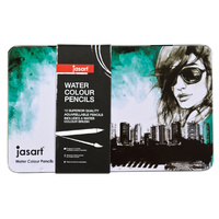 Jasart Water Colour Pencil Design - Tin 12