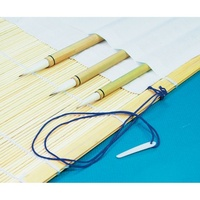 BAMBOO BRUSH MAT with cloth and strap