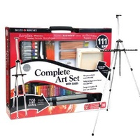 The Complete Art Set with Easel, 111pc