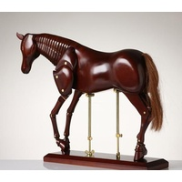 MANIKIN HORSE-DARK BROWN /NATURAL 16""