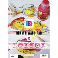AS Draw & Wash Pad A3 125gsm Smooth