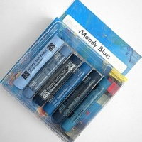 SET of 6 PASTELS - MOODY BLUES