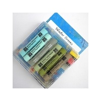 SET of 6 PASTELS - WINTER GREENS