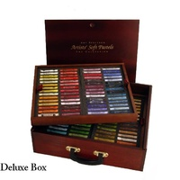 AS PASTELS (154) IN A DELUXE WOODEN BOX