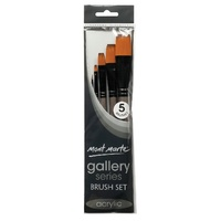 M.M. Gallery Series Brush Set Acrylic 5pce
