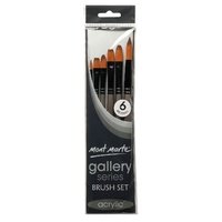 M.M. Gallery Series Brush Set Acrylic 6pce
