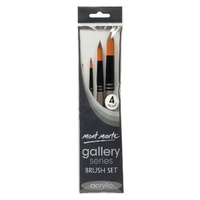 M.M. Gallery Series Brush Set Acrylic 4pce