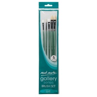M.M. Gallery Series Brush Set Oils 5pce
