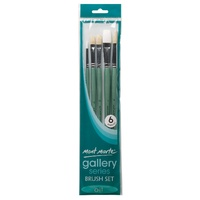 M.M. Gallery Series Brush Set Oils 6pce