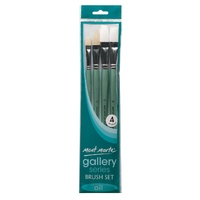 M.M. Gallery Series Brush Set Oils 4pce