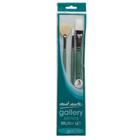 M.M. Gallery Series Brush Set Oils 3pce