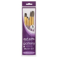 M.M. Gallery Series Brush Set Watercolour 5pce