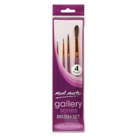 M.M. Gallery Series Brush Set Watercolour 4pce