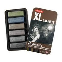 COLOURED GRAPHITE TIN 6 ASSORTED
