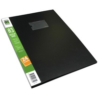 Display book with 20 fixed sleeves