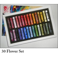 AS PASTEL SET 30 FLOWERS-CARD BOX