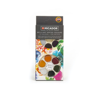 KOH-I-NOOR BRILLIANT WATERCOLOUR DISC - 12 Asst