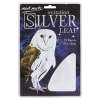 M.M. Imitation Silver Leaf 14x14cm 25 sheets