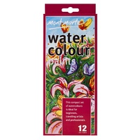 M.M. 12pce Watercolour Paints 12ml