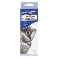 M.M. Willow Charcoal Pkt 12