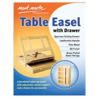 M.M. Table Easel w/Drawer - Pine