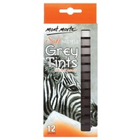 M.M. Soft Pastels Grey Tints 12pce