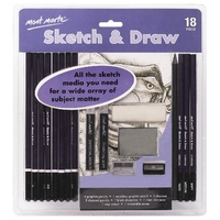 M.M. Sketch & Draw Set 18pce
