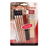 M.M. Sketch & Draw Beginners 13pce