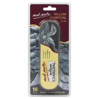 M.M. Willow Charcoal in Tin 10pce