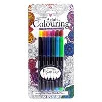 M.M. Adult Colouring Brush Markers 12pce