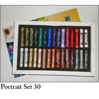 AS PASTEL SET 30 PORTRAIT-CARD BOX