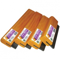 ECONOMY RUBBER SQUEEGEE 10 INCH WOODEN HANDLE