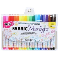 Tulip Fine Tip Fabric Markers 20 Pack