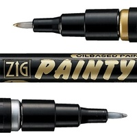 Zig Painty Pen Gold/Silver