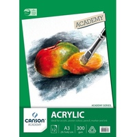 Canson Academy Acrylic Pad, 12 sheets, A3
