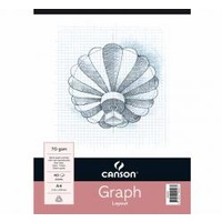 Canson Graph Pad, 1mm blue grids, 40 sheet, A3