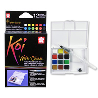 SAKURA Koi Water Colour Pocket Field Sketch Box