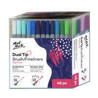 Mont Marte Signature Dual Tip Brush Marker/Fineliners 48pc